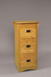 3 Drawer Mission Filing Cabinets