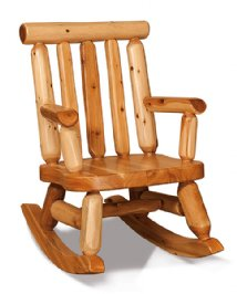 Fireside Rustic Baby Bear Rocker
