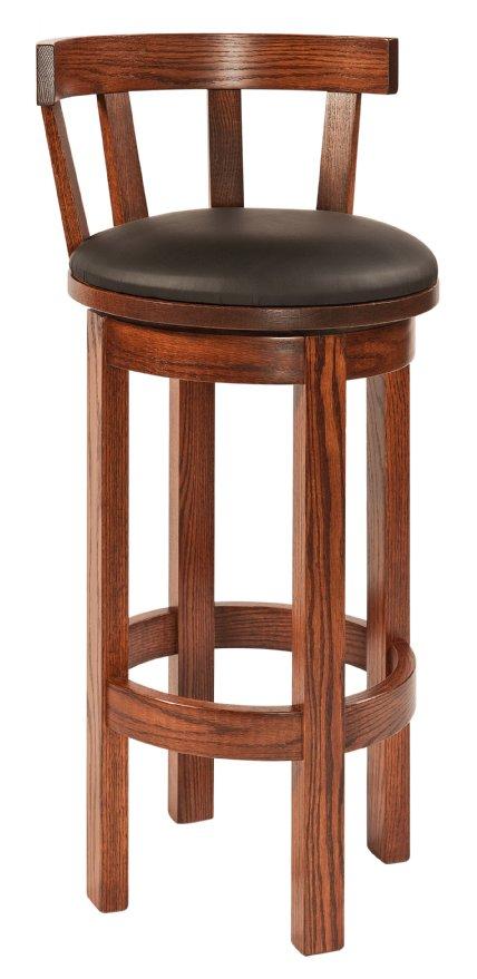 R H Yoder Woodworking Barrel Bar Stool With Meribeth